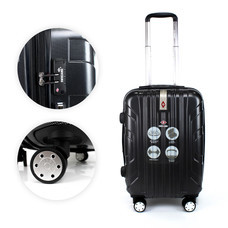 SwissAirs Luggage Trolley กระเป๋าเดินทาง รุ่น KS814/20/Black