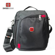 Swiss Gear กระเป๋าสะพายซิปโค้ง รุ่น KW-051 - Black