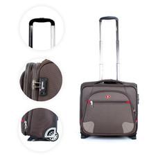 SwissAirs กระเป๋าเดินทางขึ้นเครื่อง Cabin baggage รุ่นKS907/16/Coffee