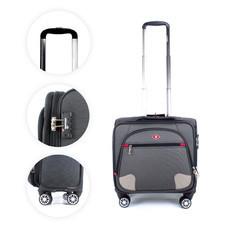 SwissAirs กระเป๋าเดินทางขึ้นเครื่อง Cabin baggage รุ่นKS906/18/Black