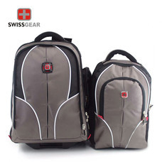 Swiss Gear Double Backpack with Trolley รุ่น KW-026 - Grey