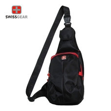 Swiss Gear กระเป๋าสะพายหน้า-หลัง รุ่น KW-113/12/BR- Black/Red