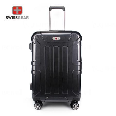 Swiss Gear กระเป๋าเดินทาง ขนาด 24 นิ้ว รุ่น Swiss Army SA005/24-Silver-Black