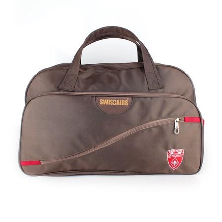 SwissAirs กระเป๋าเดินทาง(มีสายสะพาย)รุ่นKS112/22/Brown ของแท้ 100% (Warranty leafletถูกต้องตามกฎหมาย) New!