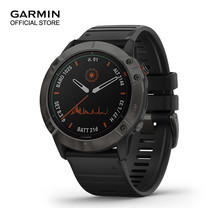GARMIN Fenix 6X Pro Solar - Titanium Carbon Gray DLC with Black Band (51mm.)