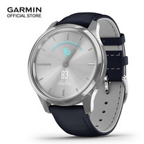 Garmin vivomove Luxe - Silver with Navy Leather