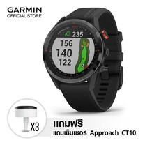 Garmin Approach S62 Black Ceramic & Silicone Band & CT10 (3)