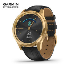 Garmin vivomove Luxe - 24K Gold with Black Embossed Leather