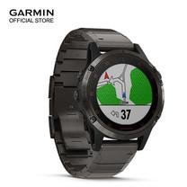 Garmin Fenix 5 Plus, Sapphire DLC Titanium with Titanium Band
