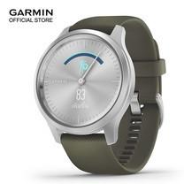Garmin vivomove Style - Silver with Moss Green Band