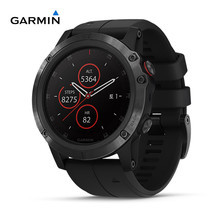 Garmin Fenix 5X Plus, Sapphire DLC Carbon Gray with Black Band