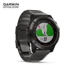 Garmin Fenix 5X Plus, Sapphire DLC Titanium with Titanium Band