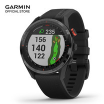 Garmin Approach S62 Black Ceramic with Black Silicone Band