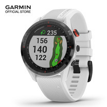 Garmin Approach S62 Black Ceramic with White Silicone Band