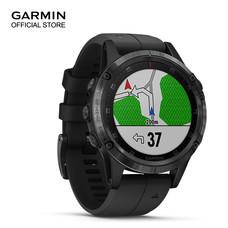 Garmin Fenix 5 Plus, Sapphire DLC Carbon Gray with Black Band