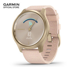 Garmin vivomove Style - Light Gold with Blush Pink Nylon