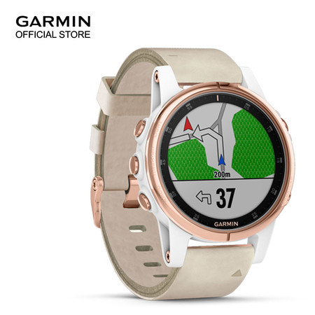 Garmin Fenix 5s Plus, Sapphire Rose Gold with Leather Band