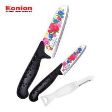 Konion ชุดมีดลายดอกกุหลาบ รุ่น CDR