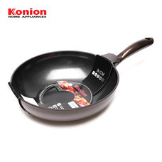 Konion Wok Pan Induction กระทะก้นลึกเคลือบเซรามิก 26 ซม. รุ่น KO-0026W