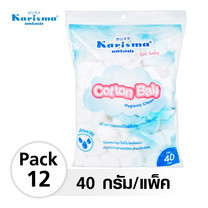 Karisma Cotton Ball สำลีก้อน 40 กรัม (12 แพ็ค)