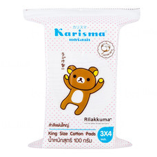 Karisma Rilakkuma สำลีแผ่นใหญ่ 100 กรัม (6 แพ็ค)
