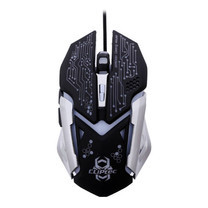 CLiPtec Gaming Mouse SANEGNOT 3250 DPI RGS621 - Silver