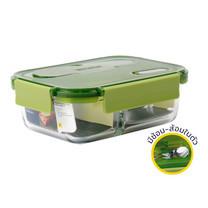 Super Lock Glass กล่องถนอมอาหารแก้ว 3 ช่อง รุ่น 6093 - สีเขียว