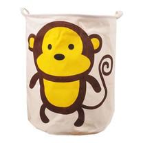 ตะกร้าผ้าแคนวาสแฟนซี - ลายลิง