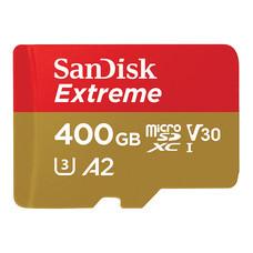 SanDisk Extreme microSDXC, SQXA1, V30, U3, C10, A2, UHS-I, 160MB/s R, 90MB/s W, 4x6, Lifetime Limited - 400GB