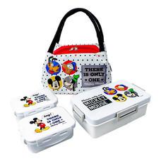 Super Lock กล่องถนอมอาหาร พร้อมกระเป๋าเก็บความร้อน Disney Mickey Mouse พร้อมช้อนส้อม+ตะเกียบ รุ่น 9197-SSS