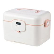 ตู้ยาสามัญประจำบ้าน กล่องยาอัจฉริยะ Intelligence Medical Box - Pink