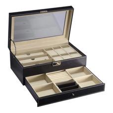 กล่องใส่แว่นตา นาฬิกาและเครื่องประดับ ขนาดใหญ่ 2 ชั้น