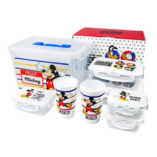 Super Lock กล่องถนอมอาหาร ลายลิขสิทธิ์ Disney Mickey Mouse รุ่น 6819-14 เซต 14 ชิ้น (รวมฝา)