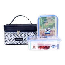 Super Lock ชุดกล่องถนอมอาหาร รุ่น BBB-6115 พร้อมกระเป๋าเก็บความร้อนและเย็น เซต 4 ชิ้น (2 กล่อง) - คละลาย