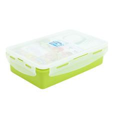 Super Lock กล่องอาหารกลางวันล็อก 2 ชั้น พร้อมช้อนส้อม รุ่น 6189 - สีเขียว