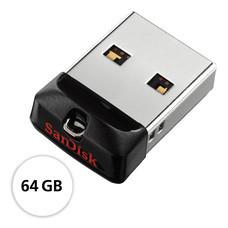 SanDisk USB Cruzer Fit, SDCZ33 - 64GB