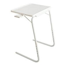 Table Mate โต๊ะพับรูปตัว C - สีขาว