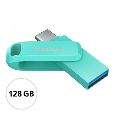 SanDisk Ultra® Dual Drive Go USB Type-C™ Flash Drive, SDDDC3, USB Type C, (SDDDC3-128G-G46G) - 128GB - Green