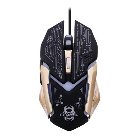 CLiPtec Gaming Mouse SANEGNOT 3250 DPI RGS621 - Gold