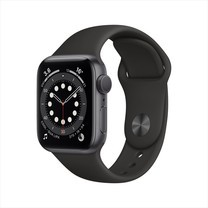 Apple Watch Series 6 GPS 40mm Space Gray Aluminum Case with Sport Band - Black