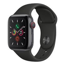 Apple Watch ซีรีย์ 5 รุ่น GPS + Cellular ตัวเรือนอะลูมิเนียม สีเทาสเปซเกรย์พร้อมสายแบบ Sport Band สีดำ ไซส์ 40 มม.