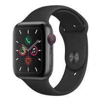 Apple Watch ซีรีย์ 5 รุ่น GPS + Cellular ตัวเรือนอะลูมิเนียม สีเทาสเปซเกรย์ พร้อมสายแบบ Sport Band สีดำ ไซส์ 44 มม.