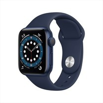 Apple Watch Series 6 Blue Aluminum Case with Sport Band - Deep Navy