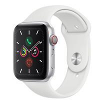 Apple Watch ซีรีย์ 5 รุ่น GPS + Cellular ตัวเรือนอะลูมิเนียม สีเงิน พร้อมสายแบบ Sport Band สีขาว ไซส์ 44 มม.