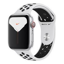 Apple Watch Nike+ ซีรีย์ 5 รุ่น GPS + Cellular ตัวเรือนอะลูมิเนียม สีเงิน พร้อมสาย Nike Sport Band สี Pure Platinum/Black ไซส์ 44 มม.