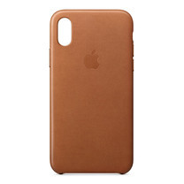 Leather Case for iPhone X - สีน้ำตาลอานม้า