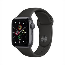 Apple Watch SE GPS 40mm Space Gray Aluminium Case with Black Sport Band