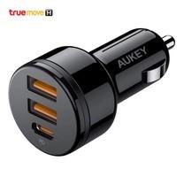 Aukey อะแดปเตอร์ชาร์จเร็วในรถ รุ่น CC-Y16 PowerAuto 36W Power Delivery 1 ช่อง และ QC 3.0 2 ช่อง