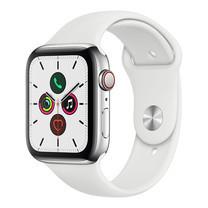 Apple Watch ซีรีย์ 5 รุ่น GPS + Cellular ตัวเรือนสแตนเลสสตีล พร้อมสายแบบ Sport Band สีขาว ไซส์ 44 มม.