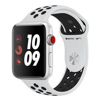 AppleWatch Nike+ Series4 GPS+Cellular, 40mm Silver Aluminium Case with Pure Platinum/Black Nike Sport Band